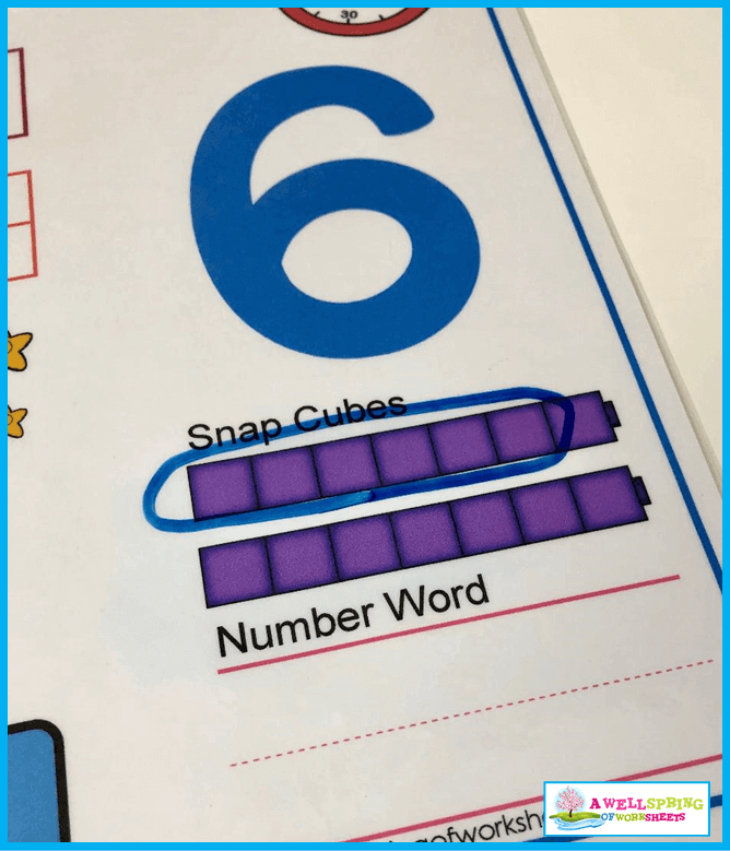 Stopwatch Number Sense - Circle the Snap Cubes in a Group